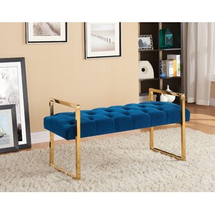 889776f7d124c Celis Button-Tufted Upholstered Bench
