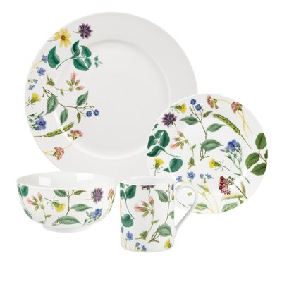 Home Flower Journal 16 Piece Dinnerware Set Service for 4  sc 1 st  Wayfair & The Holiday Aisle Winterfest 16 Piece Dinnerware Set Service for 4 ...