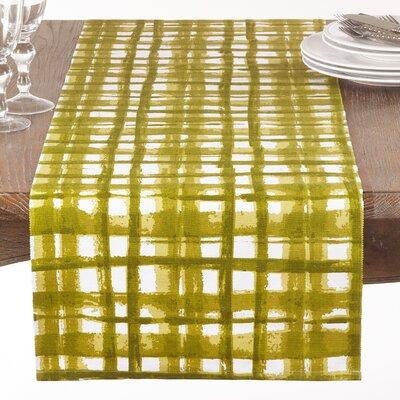 Glidden Cotton Basket Weave Print Table Runner