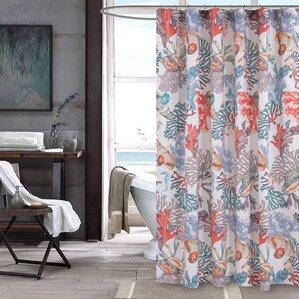 orange and gray shower curtain. Atlantis Shower Curtain Beach  Nautical Curtains