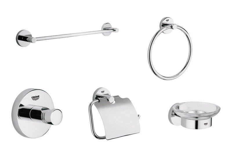 Essentials 5 Piece Bathroom Hardware Set