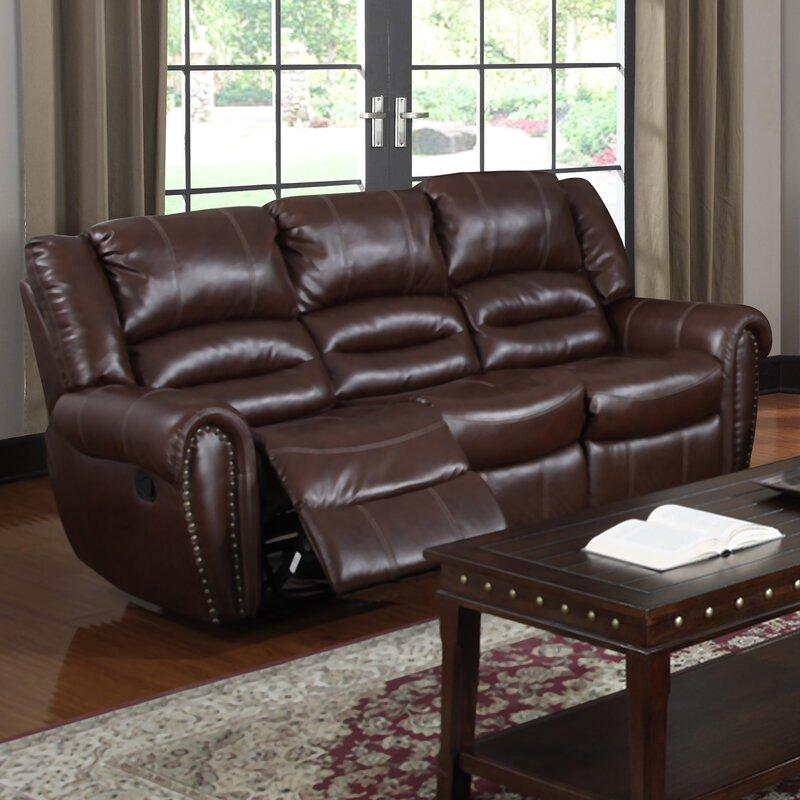 Brady Leather Reclining Sofa & Red Barrel Studio Brady Leather Reclining Sofa u0026 Reviews | Wayfair islam-shia.org
