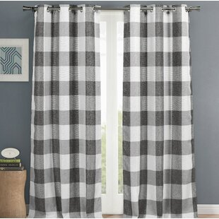 Check Plaid Curtains Drapes