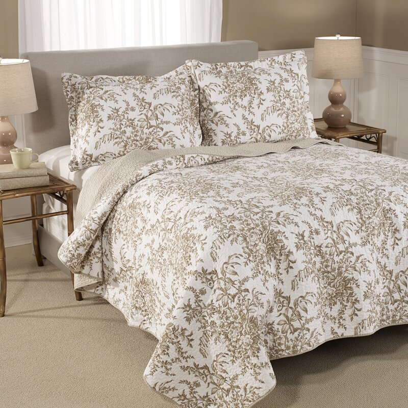 Laura Ashley Home Bedford Cotton Reversible Quilt Set by Laura ...