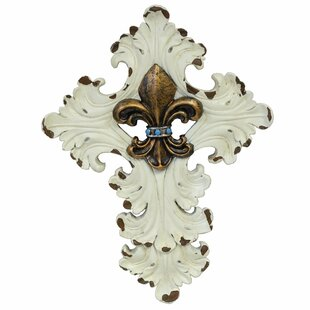 Fleur De Lis Cross Wall Decor