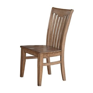 Plessis Yoke Back Solid Wood Dining Chair (Set of 2)