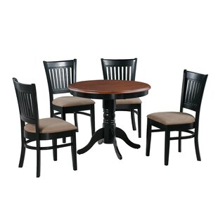 Corcoran 5 Piece Solid Wood Dining Set