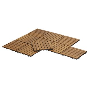 Stallings Outdoor Floor 11 8 X Wood Interlocking Deck Tiles In Honey Oak Set Of 10