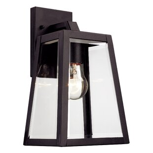 Modern outdoor wall lighting allmodern milesburg 1 light outdoor wall lantern mozeypictures Image collections