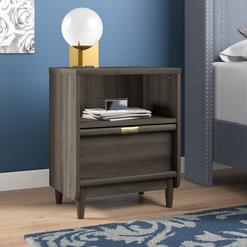 Willa Arlo Interiors Jayden 1 Drawer Nightstand