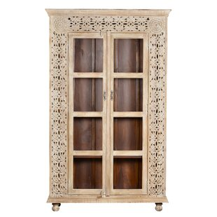Alia Carved Panel Glass China Cabinet Best #1