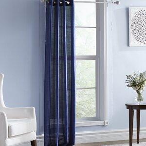 Batista Solid Semi-Sheer Single Curtain Panel