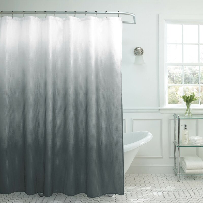 Zipcode Design Charlesworth Waffle Fabric Weave Shower Curtain ...