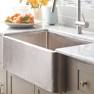 Delicieux Hammered Nickel Farmhouse Sink | Wayfair