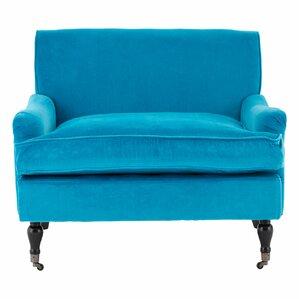 plush velvet arm chair