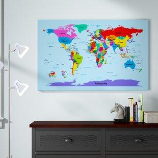 Kids World Map Wall Art | Wayfair on keystone world map, large world map, hack world map, 2 color world map, auburn world map, pillars world map, bending world map, lafayette world map, dover world map, highlands world map, repositionable world map, weathered world map, angle world map, go to the world map, old world map, eden world map, johnson world map, girl world map, thompson world map, ridges world map,