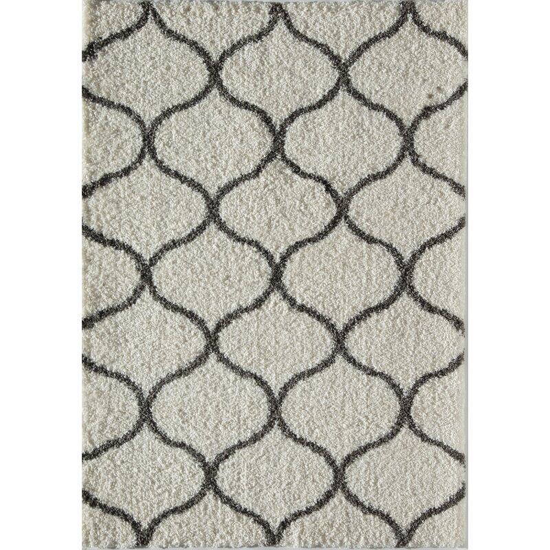 846899d1642 Rugs America Loopla Links Ivory/Charcoal Area Rug | Wayfair