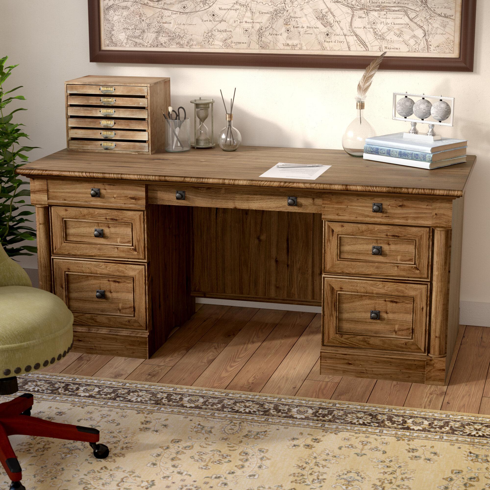 Three Posts Orviston Executive Desk U0026 Reviews | Wayfair