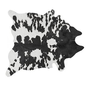 blackwhite cowhide area rug