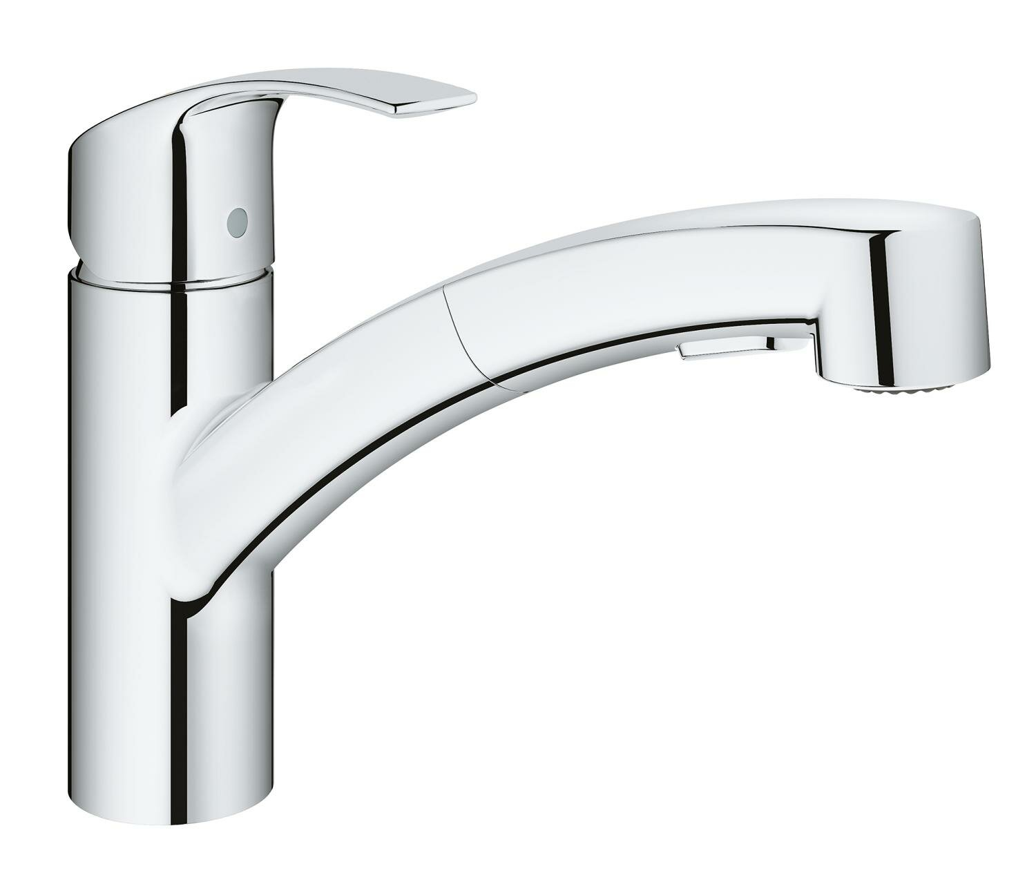 Grohe Eurosmart Kitchen Single Handle Pull-Out Monobloc Mixer Tap ...