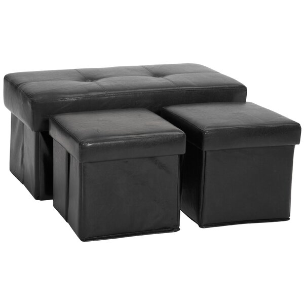 Beau Epic Furnishings LLC 3 Piece Storage Ottoman Set U0026 Reviews | Wayfair