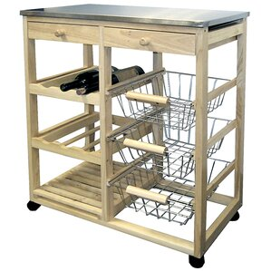 Amazing Kitchen Cart With Stainless Steel Top