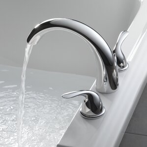 roman tub faucet adapter. Classic Double Handle Deck Mount Roman Tub Faucet Trim Bathtub Faucets You ll Love