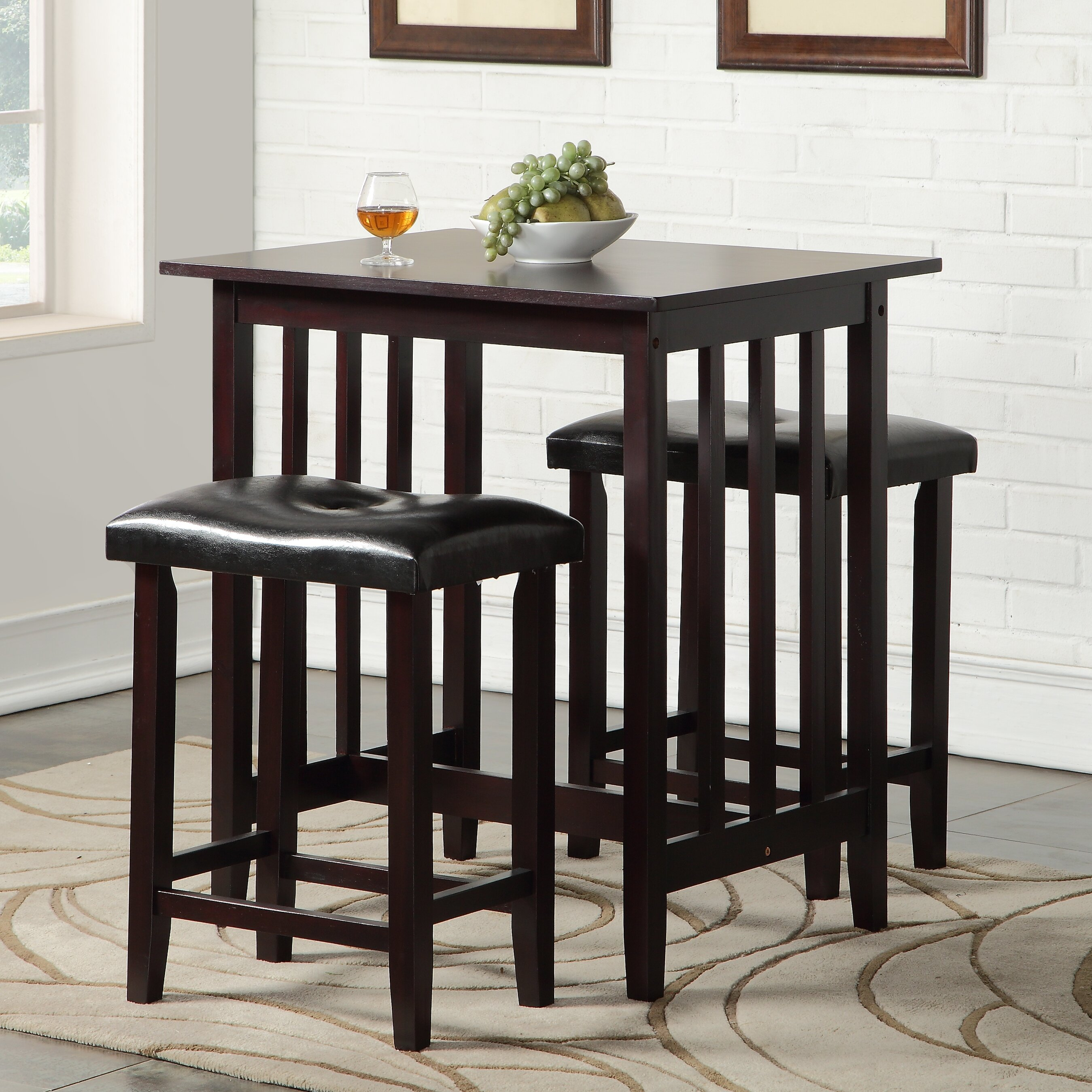 Andover Mills Richland 3 Piece Counter Height Pub Table Set ...