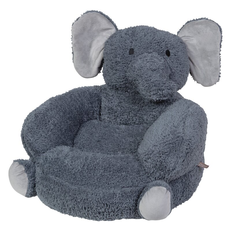 Elephant Plush Character Kids Novelty Chair
