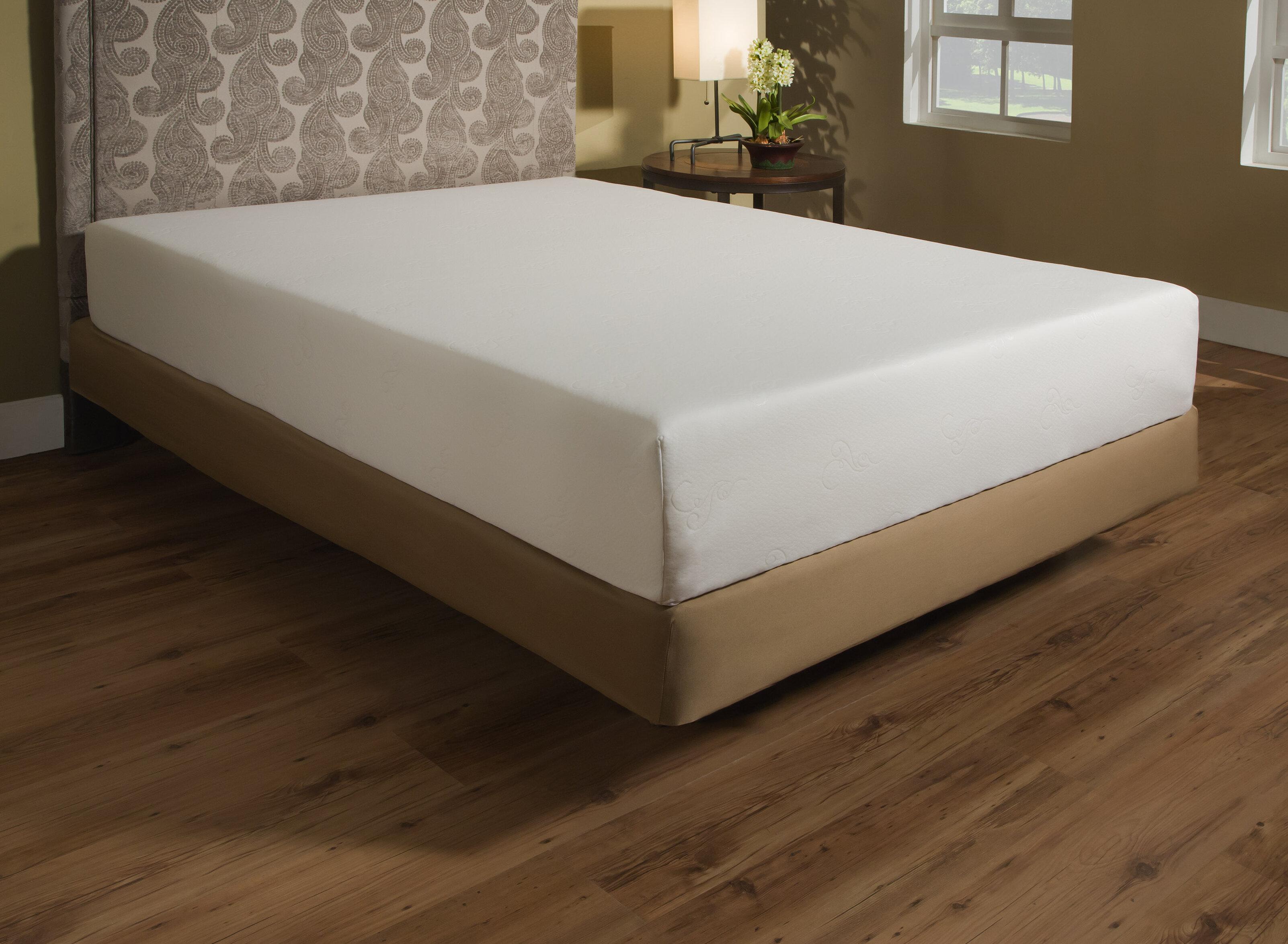 independent sleep 10 plush memory foam mattress reviews wayfair