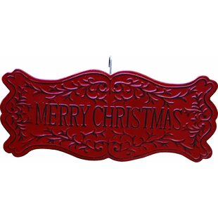 walter metal merry christmas sign