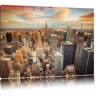 New York Skyline Photographic Print On Canvas