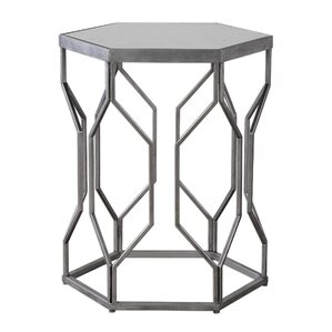 Kathryn Iron End Table by Wade Logan