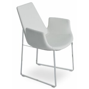 Eiffel Arm Sled in Leatherette - Light Grey by sohoConcept