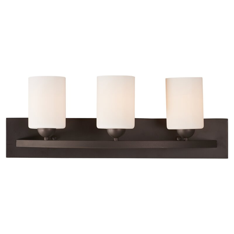 Bathroom Vanity Lights Reviews varick gallery oaklawn 3-light vanity light & reviews   wayfair