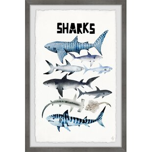 Brice Sharks Framed Art by Viv   Rae