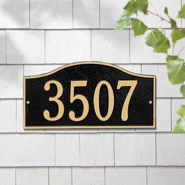 Rolling Hills 1-Line Wall Address Plaque