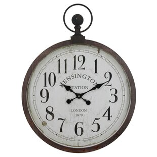 Ballwin Kensington Station Pocket Watch Wall Clock