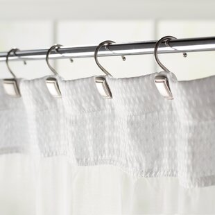 Burnett Square Wall Mounted Shower Curtain Hooks Set Of 12