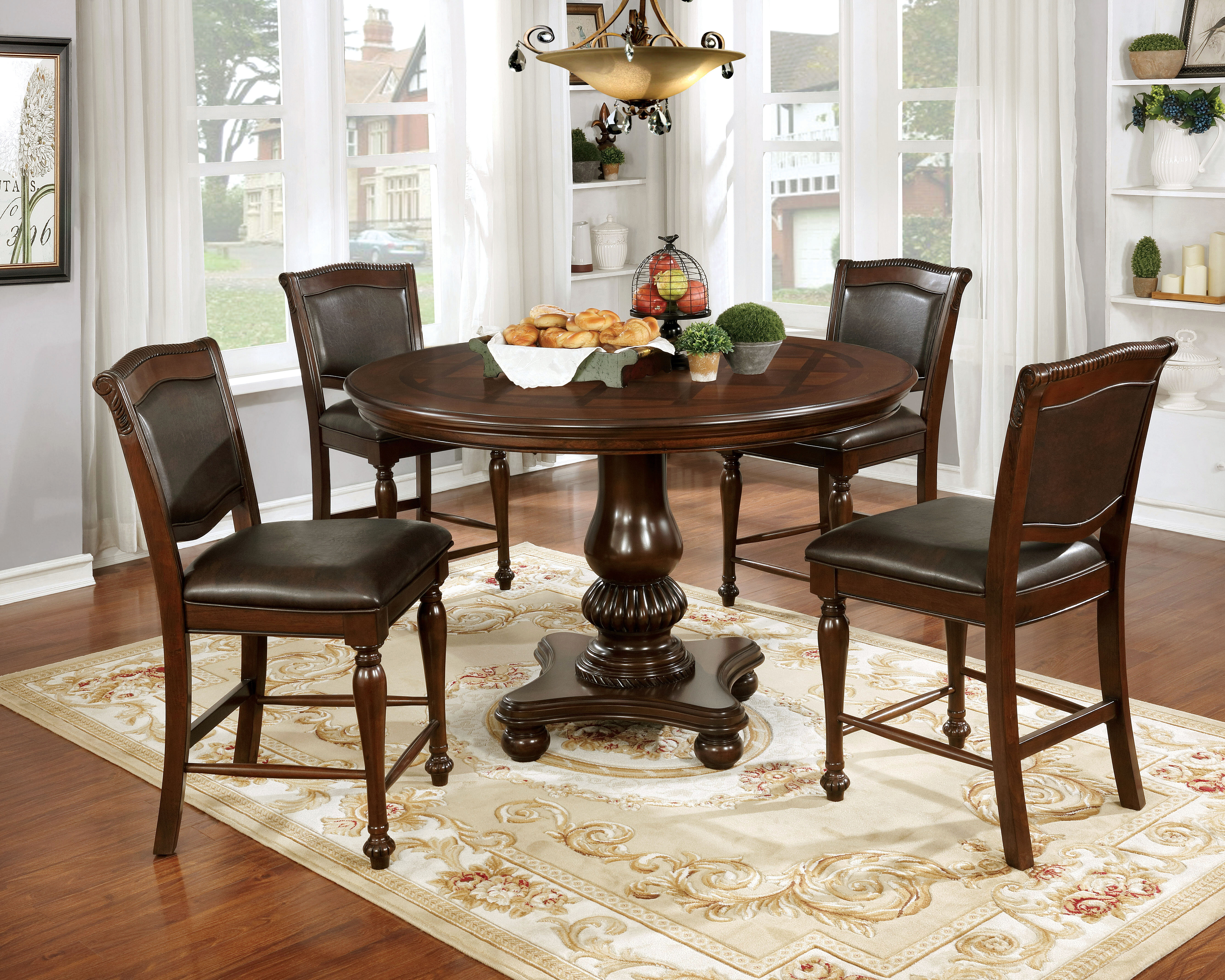 Astoria grand ripple traditional 5 piece dining table set wayfair