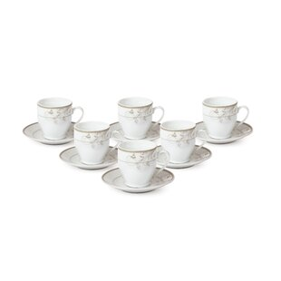 Espresso Cup and Saucer Set (Set of 6)  sc 1 st  Wayfair & Cappuccino u0026 Espresso Cups Youu0027ll Love | Wayfair