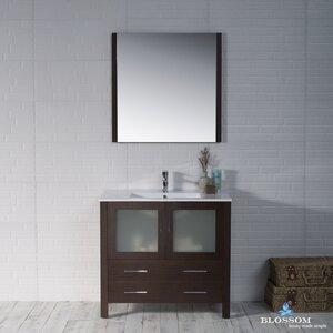 Mance Modern 35 Single Bathroom Vanity Set with Mirror