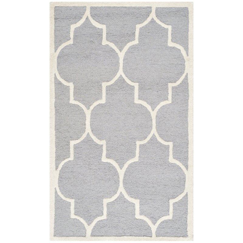 safavieh handgefertigter teppich dalton aus wolle in grau bewertungen. Black Bedroom Furniture Sets. Home Design Ideas