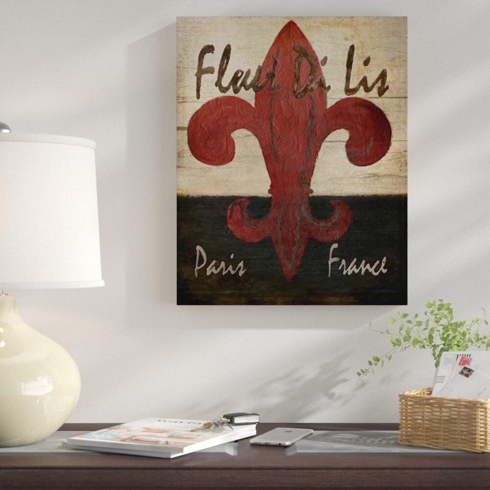 Fleur de lis print on canvas