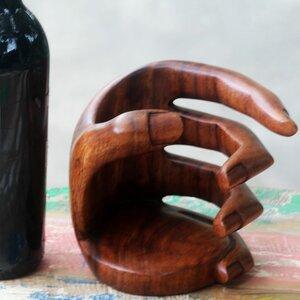 Balinese 1 Bottle Tabletop Wine Rack
