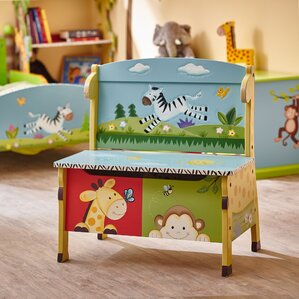 Sunny Safari Kids Bench with Storage Compartment by Fantasy Fields
