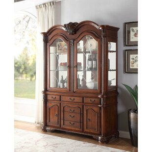 Diedrich Antique Wooden China Cabinet