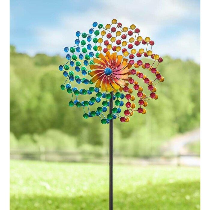 Ordinaire Rainbow Cups Metal Garden Wind Spinner