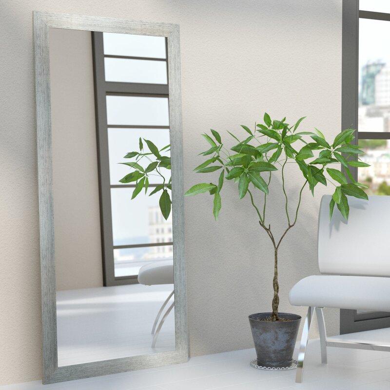 Framed Wall Mirrors wade logan rectangle silver framed wall mirror & reviews | wayfair
