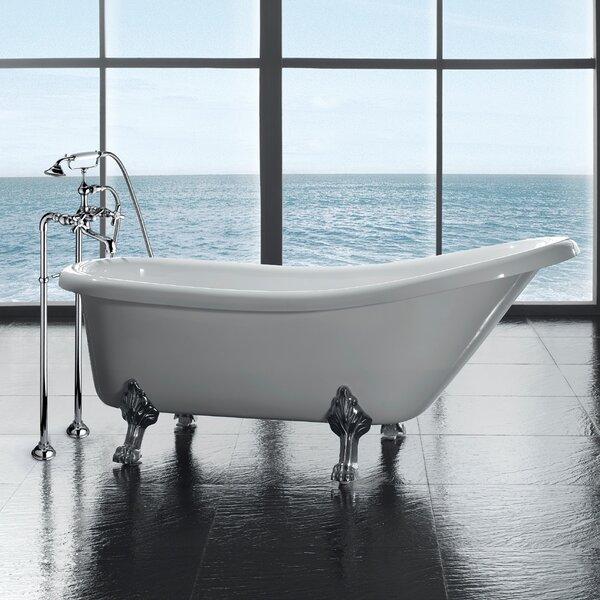 Sheba Acrylic Slipper Tub   Wayfair